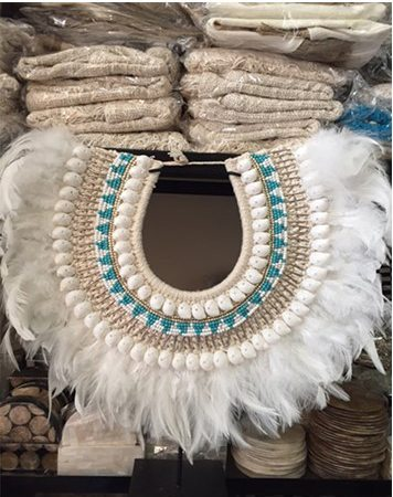 Expressionsmetis Papua Shells, Feathers & Beads Necklace On Stand Main