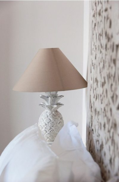 Expressionsmetis Lighting Wood Pineapple Bedside Lamp