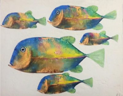 Expressionsmetis Paintings Colourful Fish Tableau Home Decor