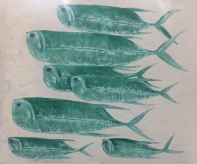 Expressionsmetis Paintings Home Decor Turquoise Fish Canvas Acrylic Art