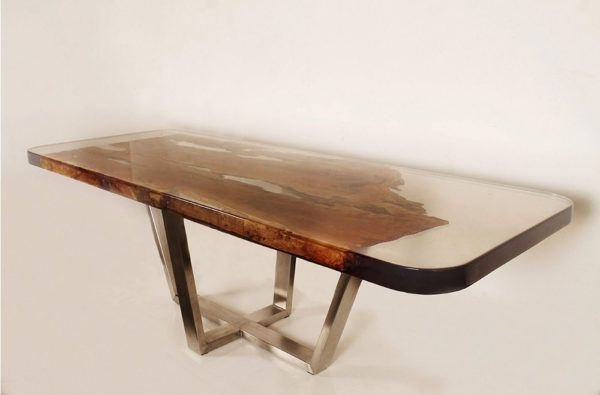 Expressionsmetis Resin Metal Wood Dining Table