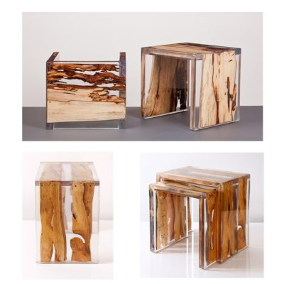 Expressionsmetis Resin Wood Side Table Furniture Art