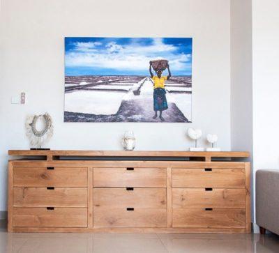 Expressionsmetis Teak Wood Drawer Cabinet Living Room Furniture