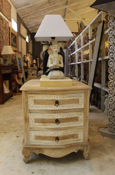 Expressionsmetis Wood Bedside Table Drawer Cabinet Furniture