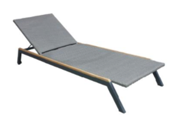 Expressionsmetis Anthracite Outdoor0furniture Sunlounger Metal Frame