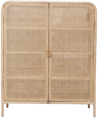 Expressionsmetis Bed Room Furniture Natural Rattan Chicken Eye Weave Cabinet Large 112 40 130