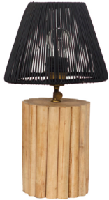 Expressionsmetis Bed Side Table Lamp Natural Rattan Shade Tnt