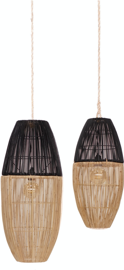 Expressionsmetis Bi Color Natural Rattan Lamp Shade Pendant Lighting Hanging Light