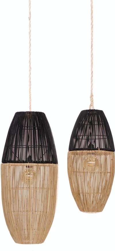 Expressionsmetis Bi Color Natural Rattan Lamp Shade Pendant Lighting Hanging Light
