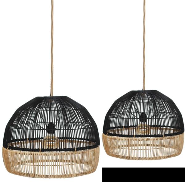 Expressionsmetis Bi Colour Dome Natural Rattan Lamp Shade