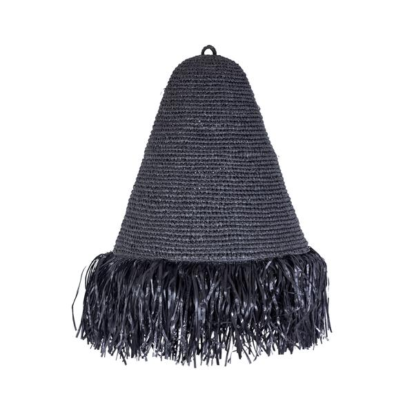 Expressionsmetis Ceiling Pendant Lamp Shade Black Fringes Hanging
