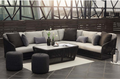 Expressionsmetis Flat Rope Outdoor Anthracite Sofa Set Modules