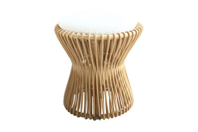 Expressionsmetis Furniture Home Decor Boho Chic Natural Rattan Stool With Cushion