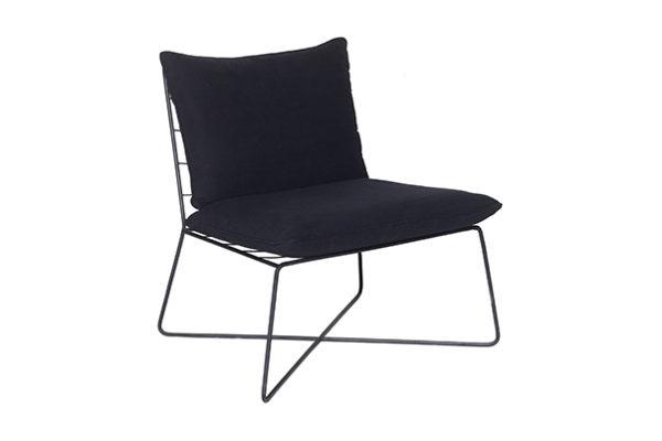 Expressionsmetis Furniture Home Decor Metal Frame Float Chair Black