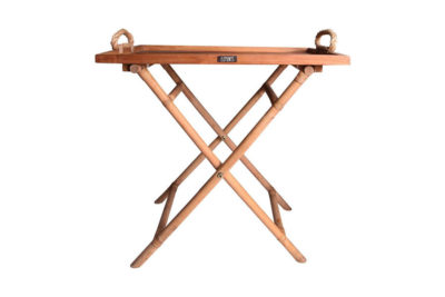 Expressionsmetis Furniture Home Decor Teak Tray Natural Rattan Cross Legs Display Table
