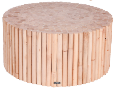 Expressionsmetis Furniture Natural Rattan Round Coffee Table Stax