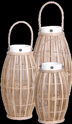 Expressionsmetis Home Decor Decorative Bamboo Lantern Set Natural