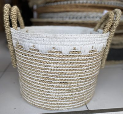 Expressionsmetis Home Decor Decorative Basket Natural Raffia Laundry