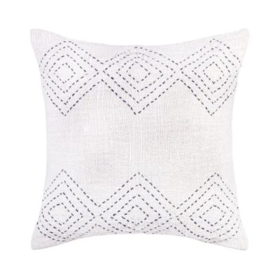 Expressionsmetis Home Decor Decorative Kite Pattern Stitches Ivory Natural Cushion Cover 50 Cm