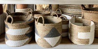Expressionsmetis Home Decor Decorative Laundry Basket Plant Pot Boho Chic