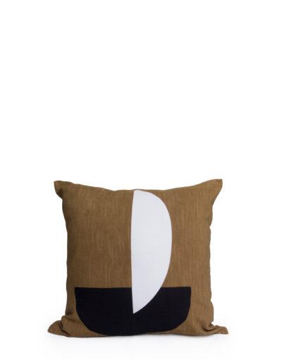 Expressionsmetis Home Decor Decorative Mustard Black White Designer Cushion Cover 60x60