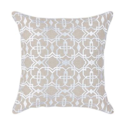 Expressionsmetis Home Decor Decorative Natural White Marakech Embroidered Cushion Cover 55 X 55 Cm