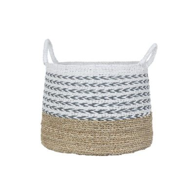 Expressionsmetis Home Decor Decorative Seagrass Raffia Basket Laundry Plant Pot