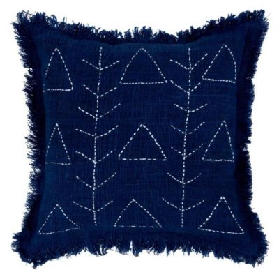 Expressionsmetis Home Decor Decorative White Stitches Navy Blue Cushion Cover Amara Omo 55 X 55 Cm