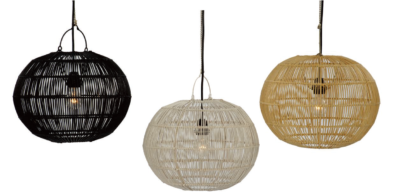 Expressionsmetis Home Decor Lighting Ceiling Light Natural Rattan Pendant Hanging Shade Arc18