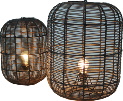 Expressionsmetis Home Decor Lighting Natural Rattan Lamp Shade Floor Table Lamp
