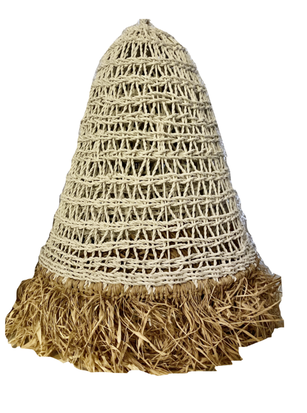 Expressionsmetis Home Decor Outdoor Lamp Pendant Ceiling Shade White Synthetic Raffia
