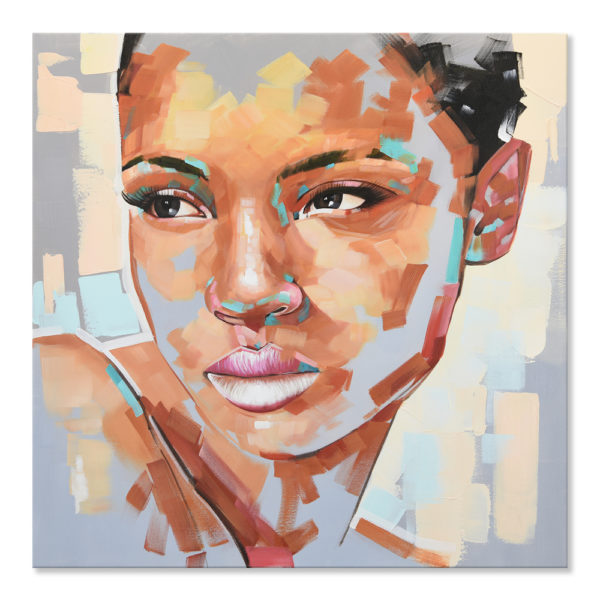 Expressionsmetis Home Decor Wall Art Abstract Face Portrait Original Painting