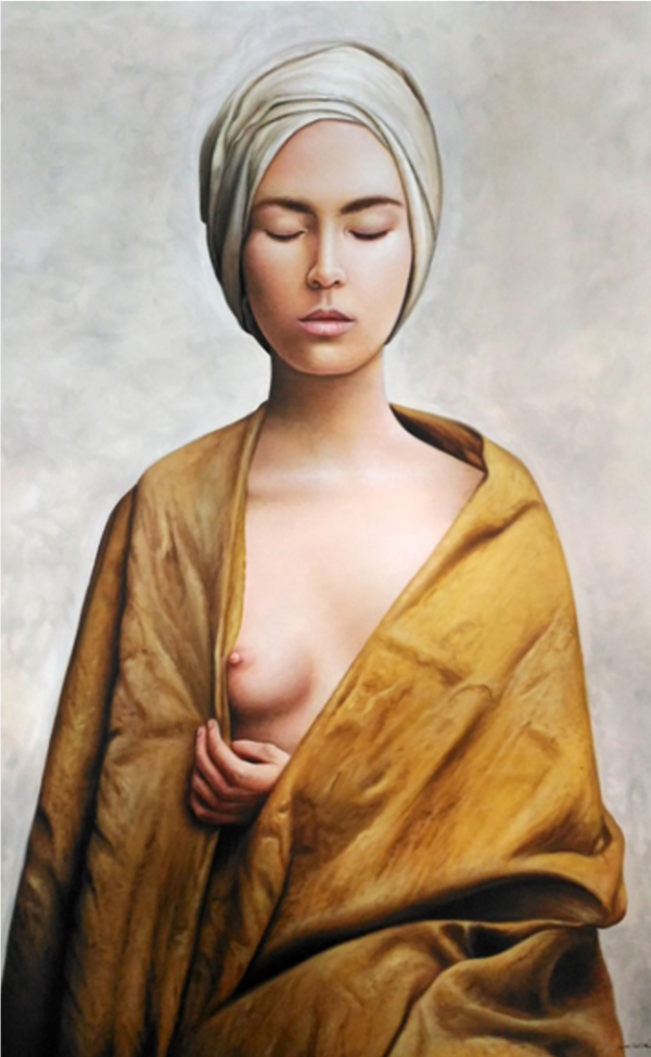 Expressionsmetis Home Decor Wall Art Decoration Half Nude Woman Original Painting