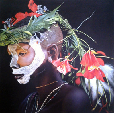 Expressionsmetis Home Decor Wall Art Decorative Original Painting On Canvas African Flower Boy
