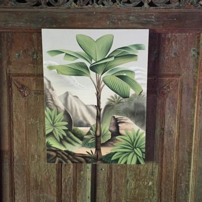Expressionsmetis Home Decor Wall Art Oasis Jungle Tropical Forest Original Painting