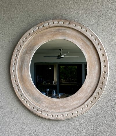 Expressionsmetis Home Decor Wall Decoration Wooden Round Mirror Frame