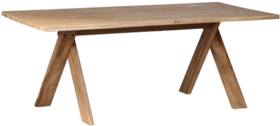 Expressionsmetis Indoor Furniture Cross Legs Dining Table Wooden Teak