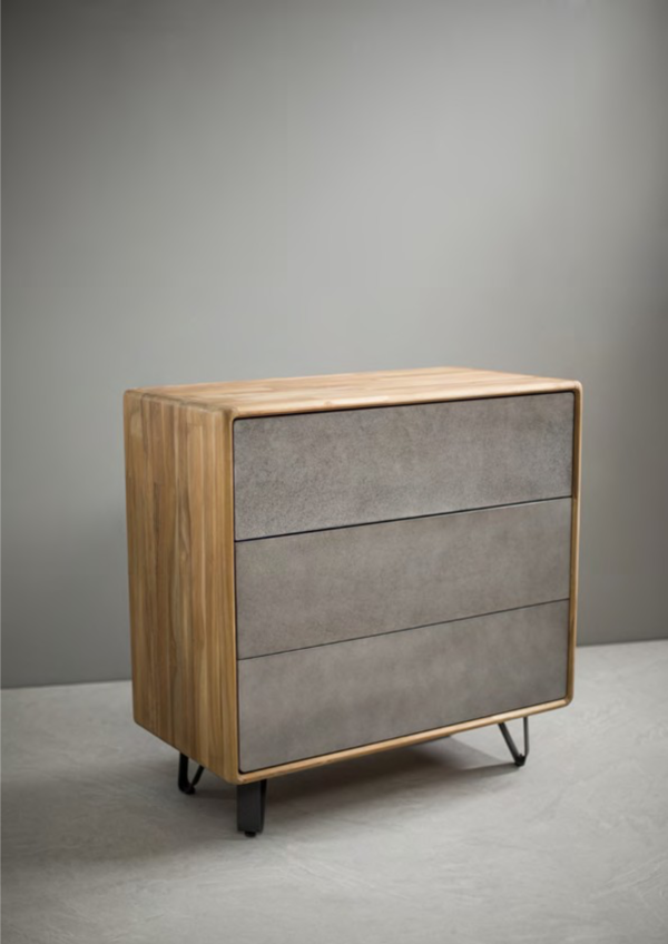 Expressionsmetis Indoor Furniture Home Decor Chest Drawers Wooden Console Grey Wash Cabinet