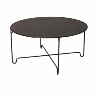 Expressionsmetis Indoor Furniture Living Room Black Round Coffee Table Metal Leg