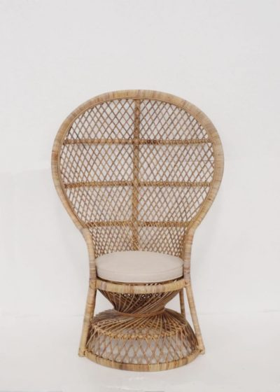 Expressionsmetis Indoor Furniture Natural Rattan Peacock Chair