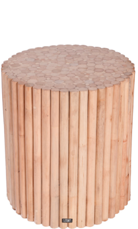 Expressionsmetis Indoor Furniture Natural Rattan Side Table Stax Round