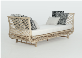 Expressionsmetis Indoor Furniture Tropical Living Natural Rattan Day Bed Single