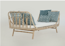 Expressionsmetis Indoor Furniture Verandah Tropical Living Natural Rattan Day Bed