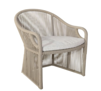 Expressionsmetis Indoor Outdoor Furniture Nude Taupe Rope Dining Chair