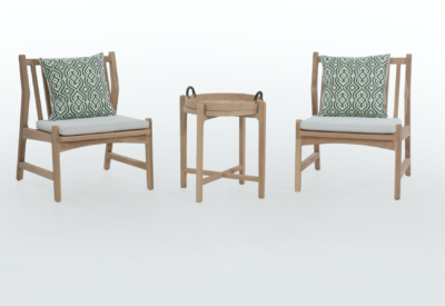Expressionsmetis Indoor Outdoor Furniture Wooden Chair Side Table Set