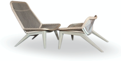 Expressionsmetis Indoor Outdoor Furniture Woven Lounge Chair And Foot Stool
