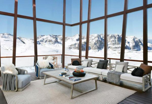 Expressionsmetis Indoor Outdoor Furniture Woven Rope Teak Frame Sparks Living Room Sofa Set