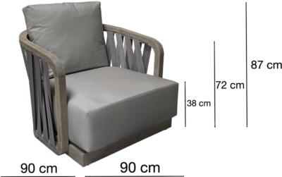 Expressionsmetis Indoor Outdoor No Leg Chair Woven Teak Frame