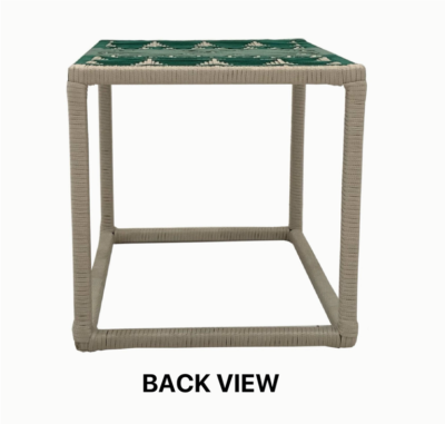 Expressionsmetis Indoor Woven Pattern Square Side Table Green Customisable