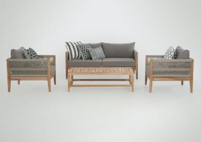 Expressionsmetis Outdoor Furniture Living Sofa Set Rope Teak Wood
